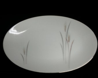 Vintage Platinum Wheat Fine China Serving Plate
