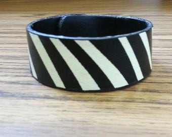 Ladies Zebra Strip Bracelet one of a kind.