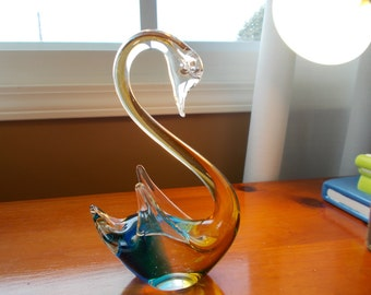Vintage Murano Glass Swan