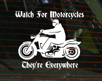 watch for motorcycles stickers