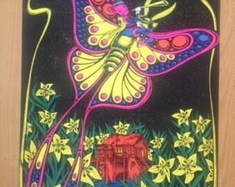 Cunar Moth Black Light poster 1971 Saladin Prod.
