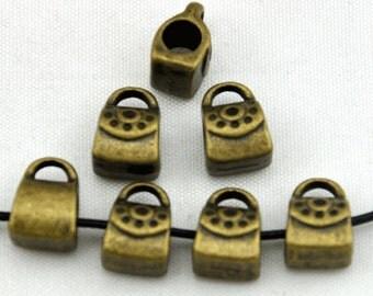 20pcs Antique Bronze handbags Spacer Bead Charm Pendants----8*12mm--G607