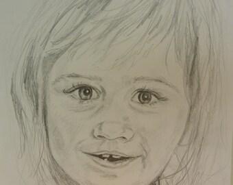 Pencil portrait of a girl