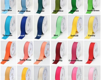 5/8 RIBBON/10 Yard of solid Grosgrain Ribbon/ 32 Colors to Choose from/WHOLESALE GROSGRAIN- Matte Ribbon