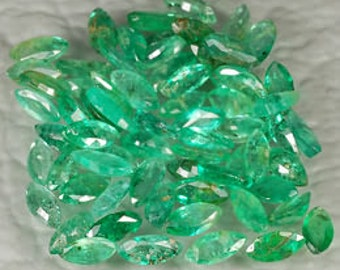 Marquis Cut Emerald 2mm x 4mm .15ct Colombian