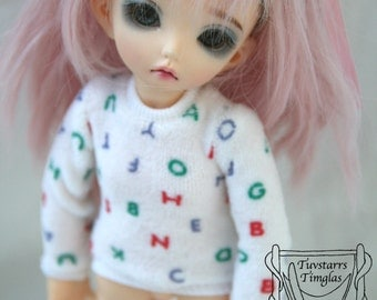 YoSD LittleFee Alphabeth School Shirt BJD