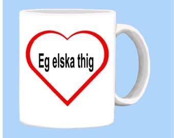 Icelandic I LOVE YOU mug