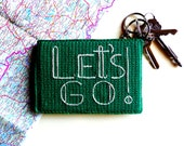 Green Travel Passport Cover - Gift for Traveler! - Honeymoon Gift!