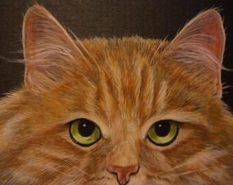 ACEO Original Siberian Cat feline painting