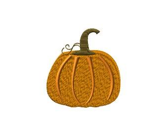Pumpkin Harvest Machine Embroidery Design 2 sizes