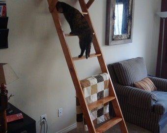 Hand-crafted, unique and aesthetically beautiful cat ladders with platform for your home. More pics and info at Facebook.com/BaliCatLadder