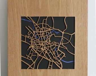 SALE BARGAIN!  wooden map of the fine city of Norwich at half price!