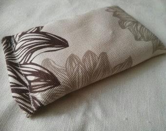 Organic Cotton Catnip Pillow - GOTS certified Organic Cotton -  Tan Flowers