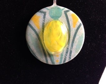Resin Pendant (2in / Reversible): Yellowcentric