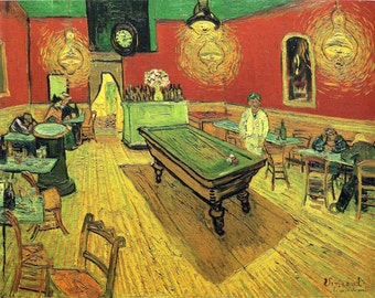 The Night Cafe by Vincent Van Gogh, Giclee Canvas Print