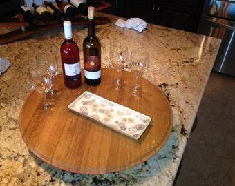 Wine Barrel Lazy Susan -