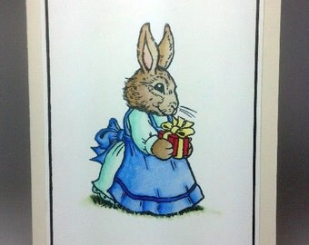 Handmade Bunny Rabbit Greeting Card