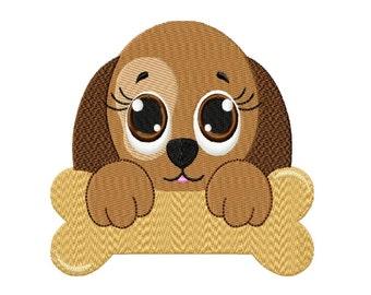 Cute Little Puppy  Fill Machine Embroidery DESIGN NO. 169