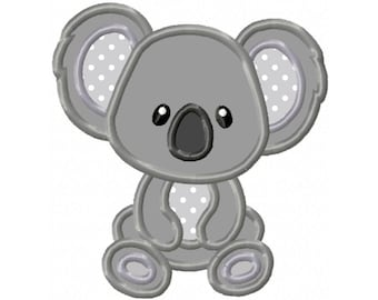 Koala Bear...Instant Download...Applique Machine Embroidery DESIGN NO. 96