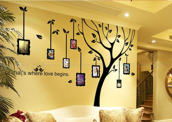 Photo Frame wall decalFamily Tree wall by Walldecorative ...