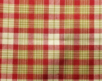 "Plaid Fabric 54"" wide"