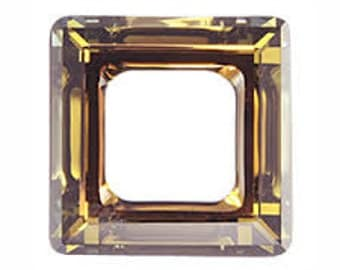 SWAROVSKI 4439 14mm Square Ring - Golden Shadow