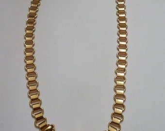 Vintage Gold Monet Necklace Choker 1960s Costume Jewelry