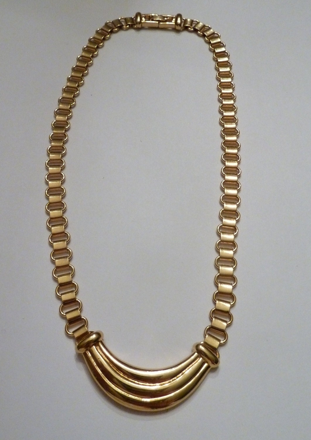 vintage gold monet necklace choker 1960s by