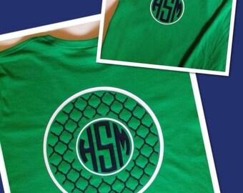 Adult Quatrefoil Circle Monogrammed Shirt