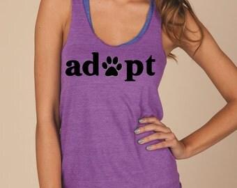 Adopt Eco Jersey Racerback Tank Top / Adopt tank top/ Adopt Don't Shop/