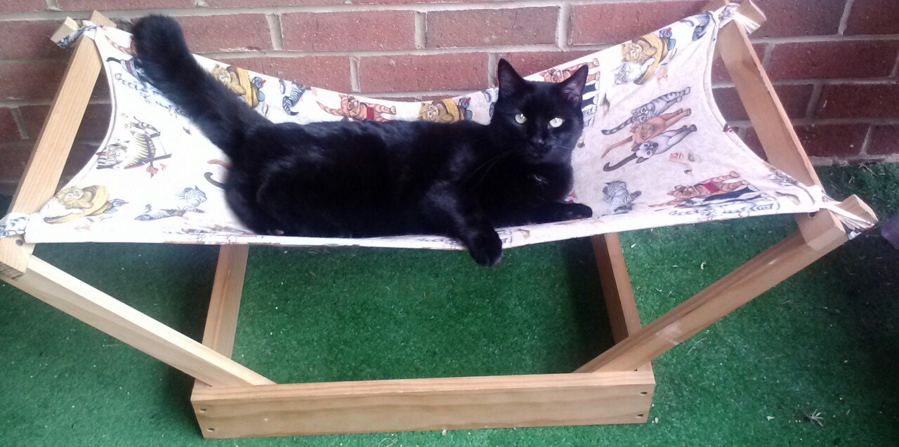 Make your own cat hammock build bunk bed hammocks for for Design your own cat tree
