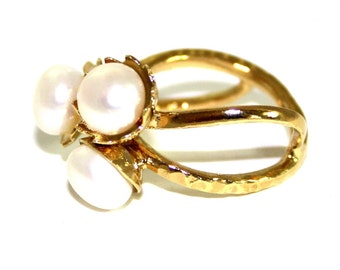 Pearl Ring | GOLD Filled Ring | birthstone ring | pearl jewelry
