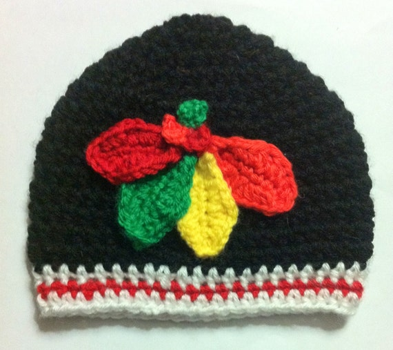 Blackhawks Hat With Feathers Four Feathers Hat