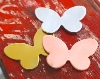 Stamping Blanks Small Butterfly - 3  debured , Metal Stamped Jewelry Supply