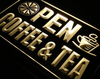 j673 OPEN Coffee Tea Cafe Juice  Neon Light Sign (Free Shipping to usa)