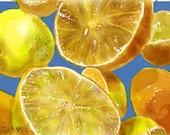 Lemony- Original Digital Artwork on Gallery Wrapped Canvas by K.Schowe