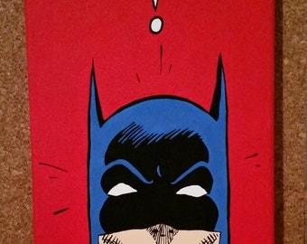 "Hand Painted Batman Comic Book Panel Replica - 8x10x5/8"""