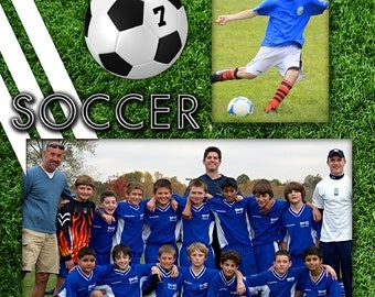 8x10 Soccer - Player Profile Photoshop Template