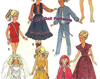 "Wardrobe Pattern for Barbie and Other 11-1/2"" to 12"" Fashion Dolls"