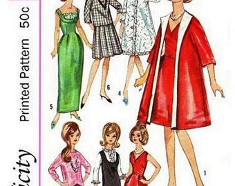 "Teen Wardrobe Pattern for Barbie and Other 11-1/2"" to 12"" Dolls"