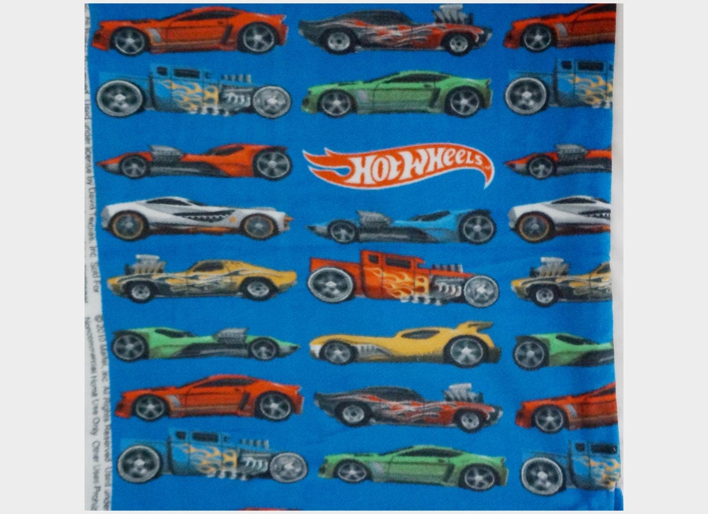 Hot Wheels Race Cars Boys Fleece Fabric For No Sew Blanket