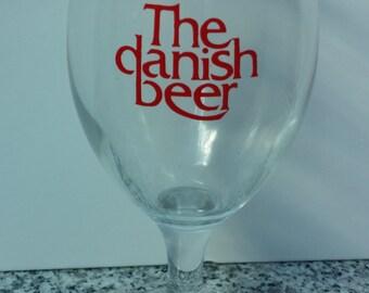 Ceres Danish Beer Pilsner Footed Glass
