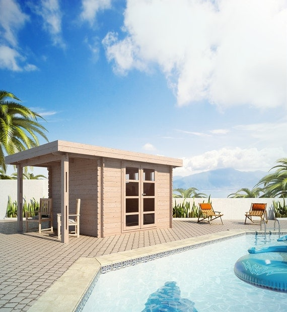 Garden house extra room storage shed yoga room by for Premade roof