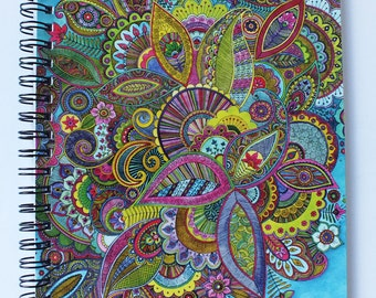 Evie's Garden Paisley Notebook