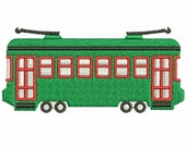 New Orleans Streetcar Machine Embroidery Design Download