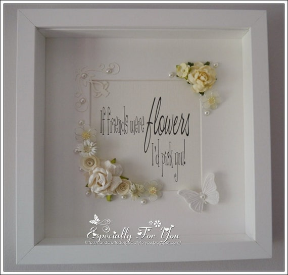 Items similar to beautiful ooak shadow box framed picture