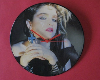 "Madonna Holiday 12""/lp  picture disc clock"