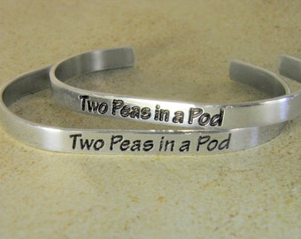 Hand Made jewelry Bracelet ...Two Peas in a Pod