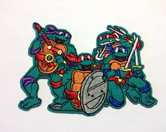 Iron on Sew on Patch:   Turtles