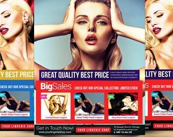 Lingerie Shop Advertising Flyer